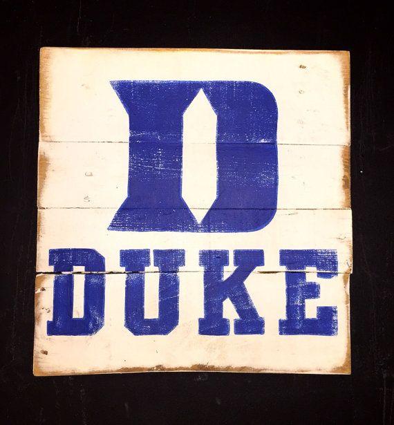 Duke Blue Devils Sign University Decor By Palletsandpaint Rhpinterest: Duke Blue Devils Home Decor At Home Improvement Advice