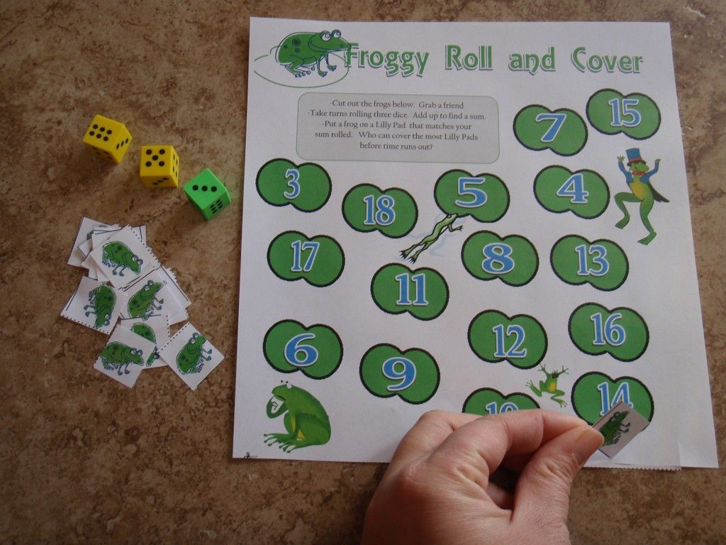Froggy Math Addition Printable