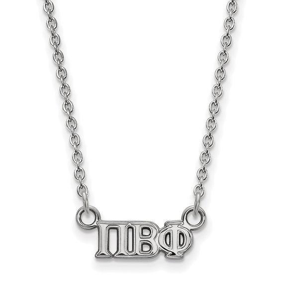 Zales Pi Beta Phi Small Sorority Necklace in Sterling Silver ShwIFjjAM