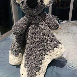 Sleepy Bunny Lovey Crochet Pattern   Security Blanket   Comforter   PDF Crochet Pattern
