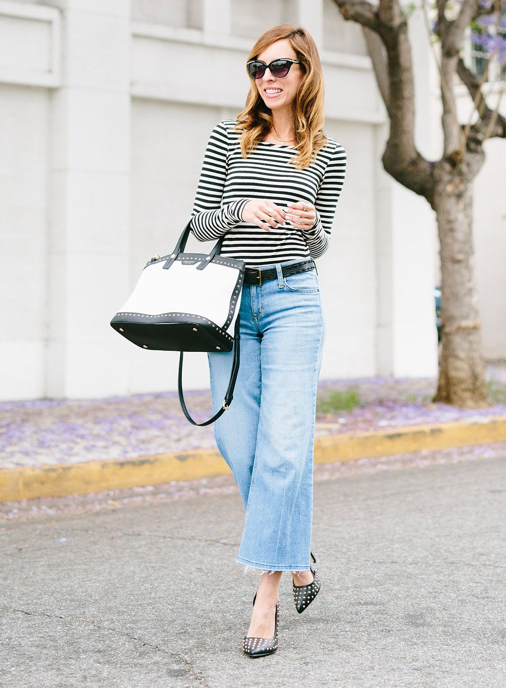 How to wear cropped flare jeans Making Cropped Flare Jeans Classic ...