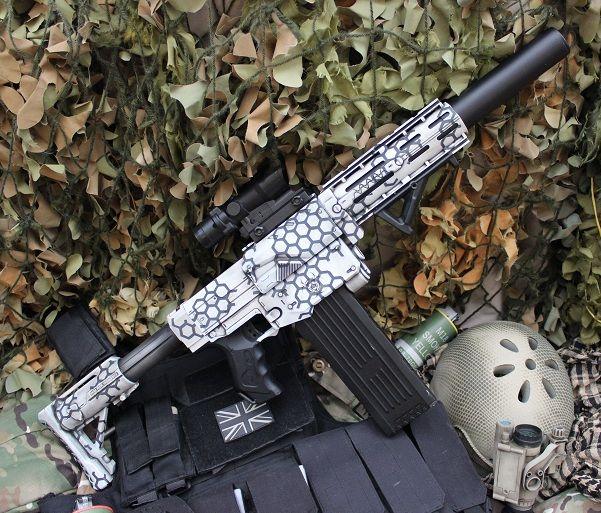S17s17 9 12 COD Atlas nerf gun artic camo by Sam-Castle