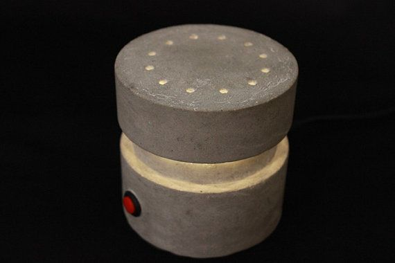 RLite LED concrete lamp. Very awesome industrial design