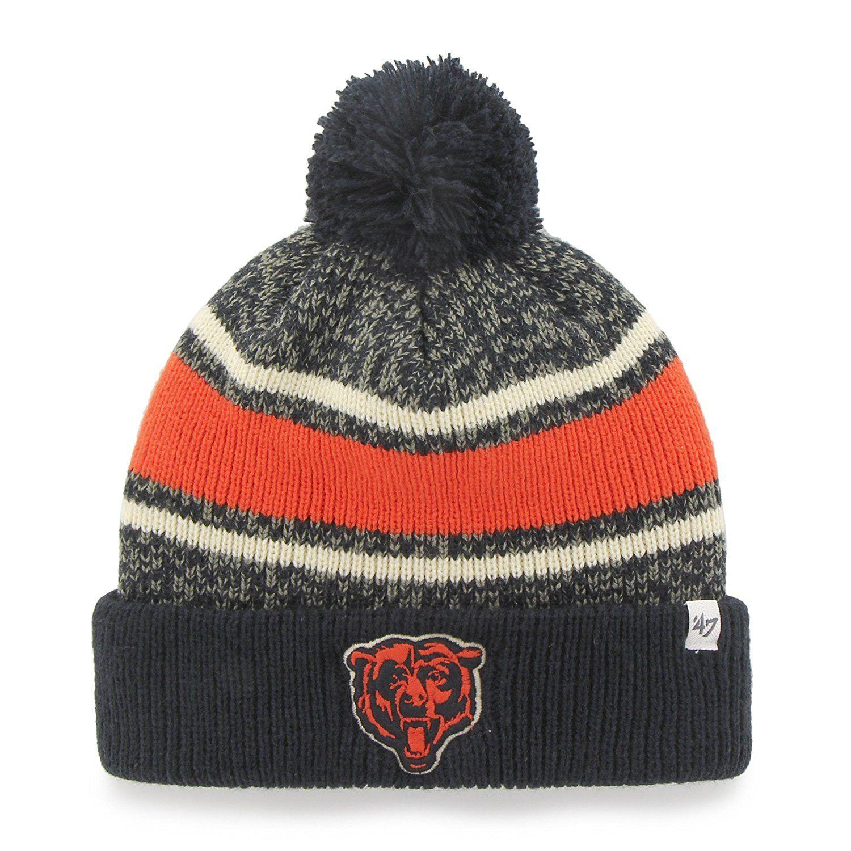 ff565b8ff7e Chicago Bears NFL  47 Fairfax Cuff Knit Hat with Pom