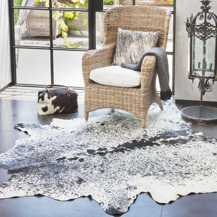 Natural Cowhide Rug Salt And Pepper Spotted At Zanui Au Rugs