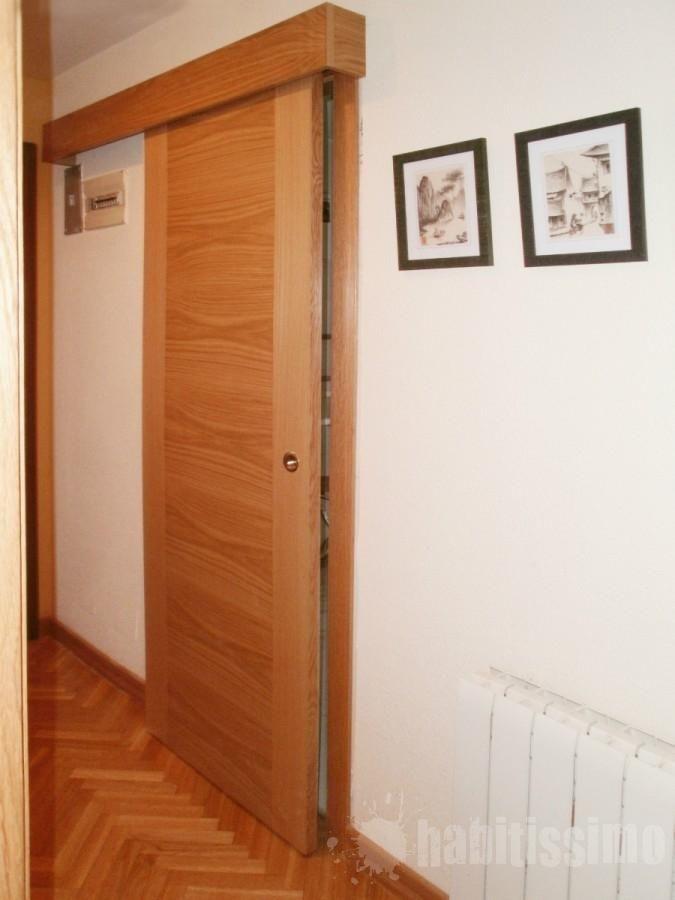 Corrediza madera puertas corredizas pinterest madera - Como hacer puertas correderas ...