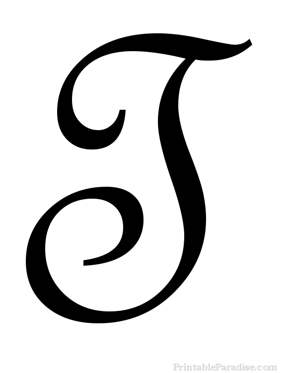 Printable Letter T in Cursive Writing | Wedding: Dresses, Deco