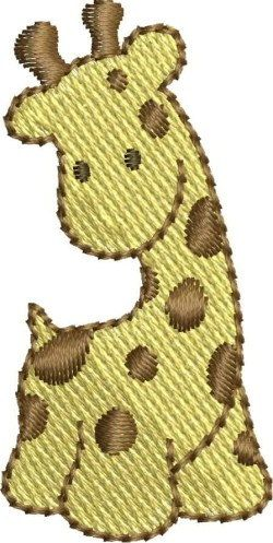 Mini Giraffe embroidery designs by DBembroideryDesigns on