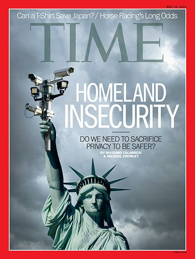 Time Magazine Cover. More of a controversial dominant image how ever it is slightly humerous replacing the torch with cameras, it's literal and straight to the point. Easily relatable and unique. Minimal colours and draws attention to the image instead.