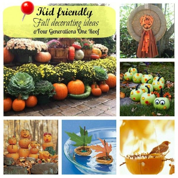 Kid friendly fall decorating ideas @Mandy Dewey Generations One Roof