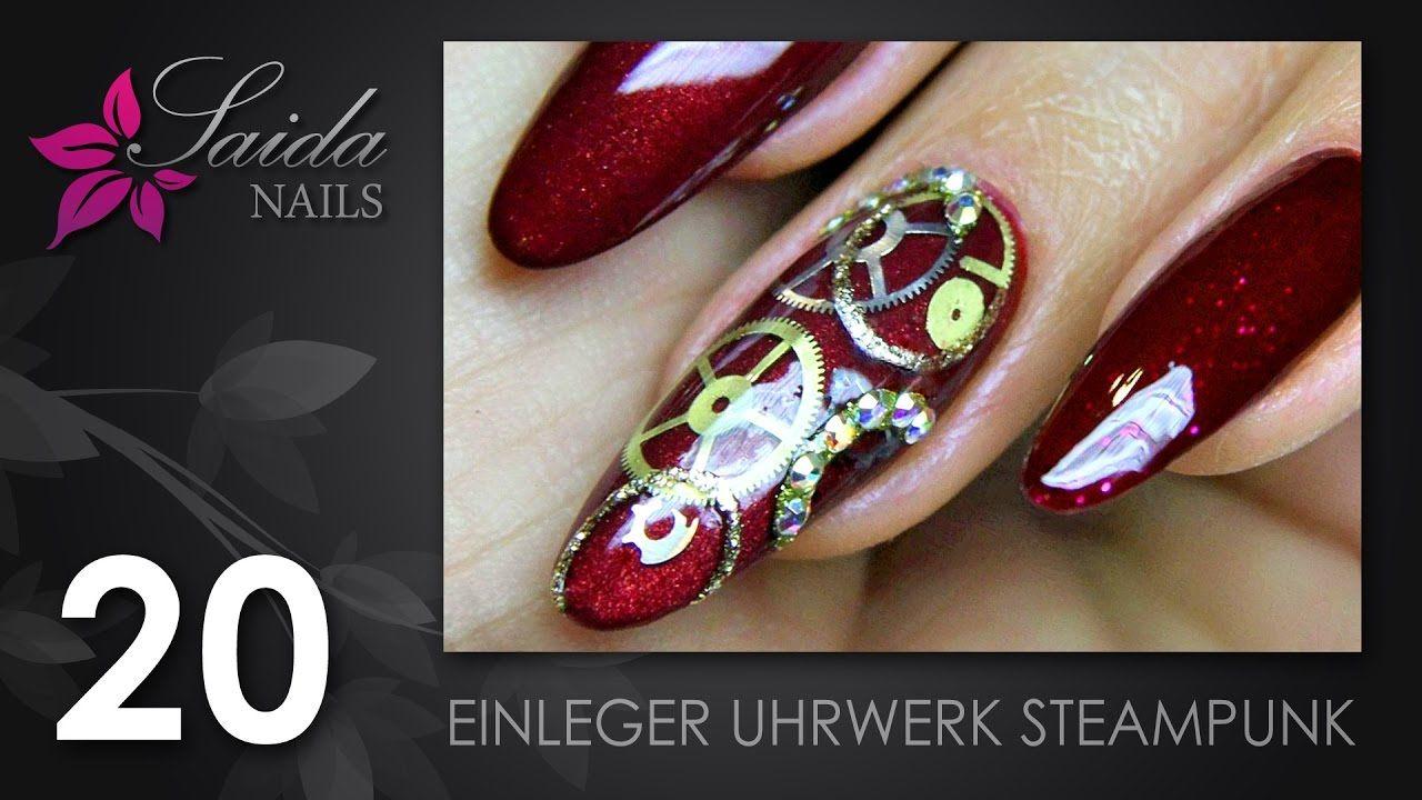 Nailart Einleger Uhrwerk Steampunk (Saida Nails | Nailart leicht ...