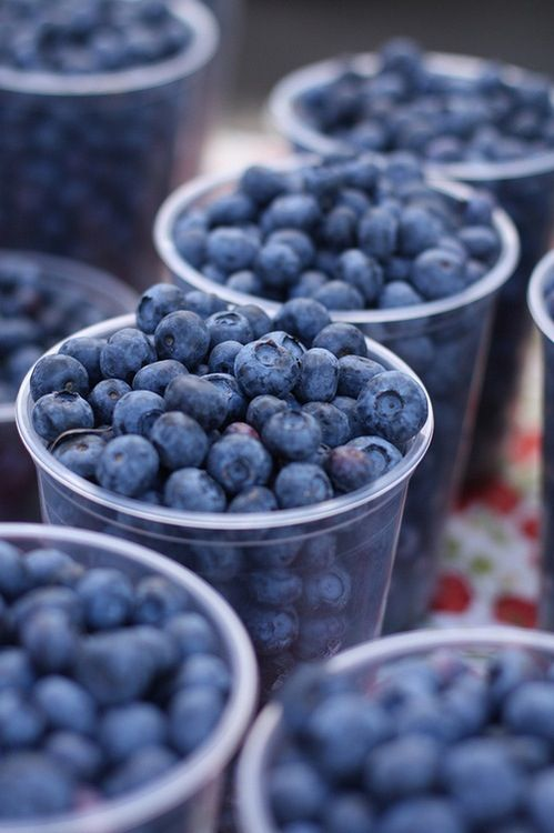 i could eat blueberries all day long! they are good for your heart, too.