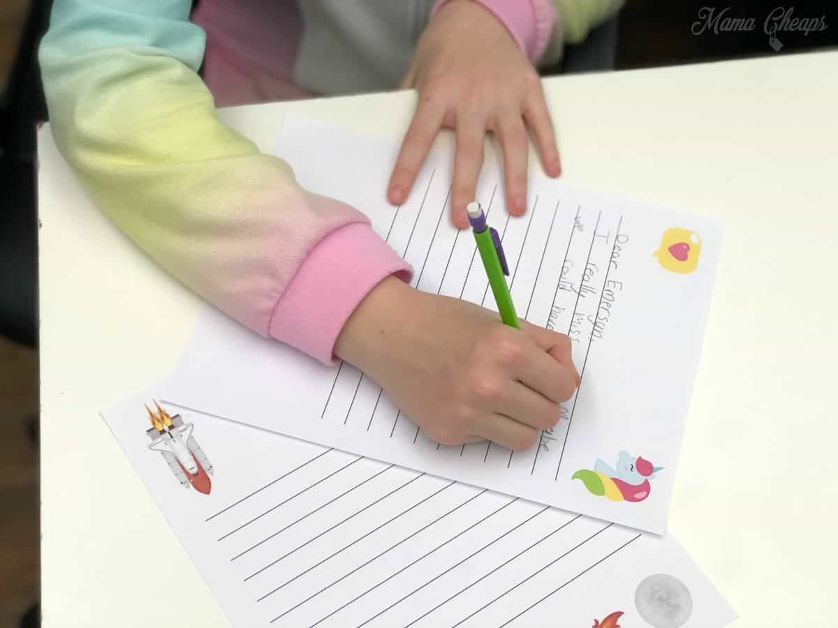 Letter Writing Templates For Kids