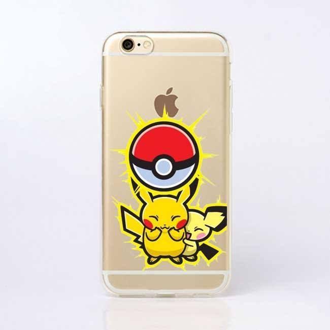 pokemons pokeball transparent hard plastic print case for iphone 5c