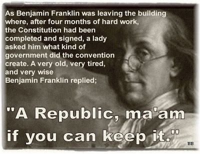 A Republic If You Can Keep It History Quotes Republic Very Tired