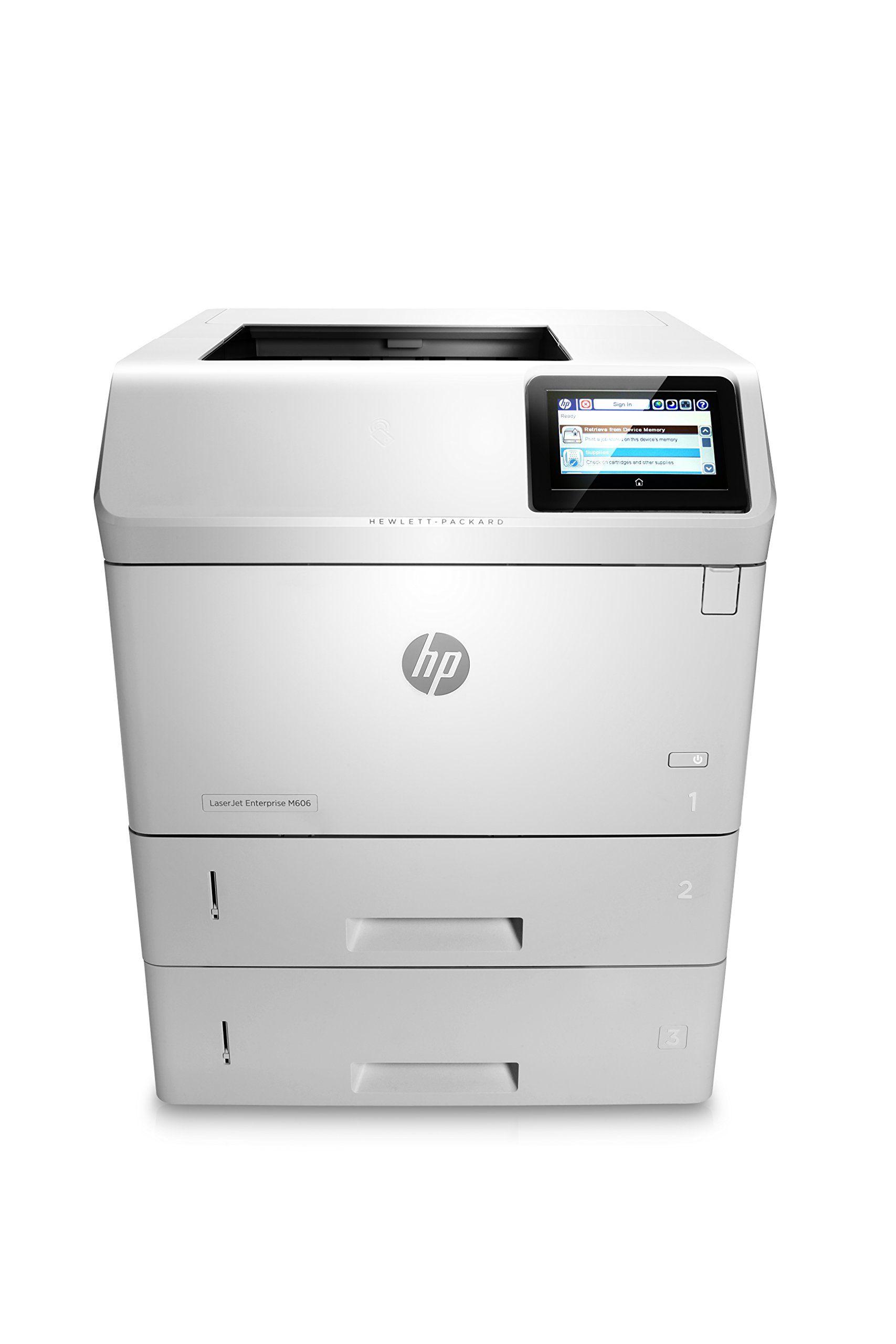 HP Monochrome LaserJet Enterprise M606x Printer w/ HP FutureSmart Firmware, (E6B73A#BGJ)