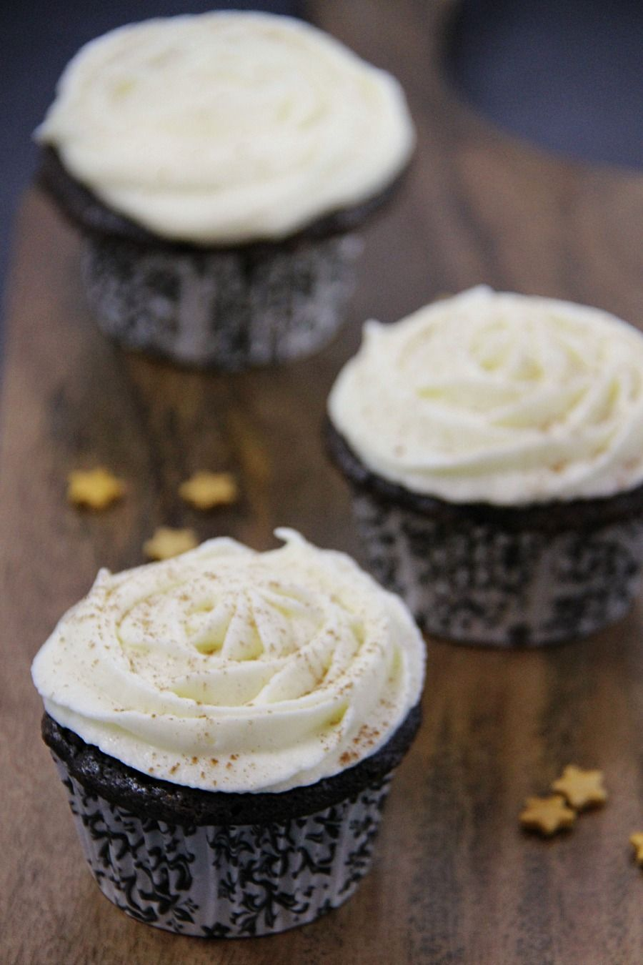 Chocolate Cupcakes with Eggnog Buttercream - Family Food And Travel