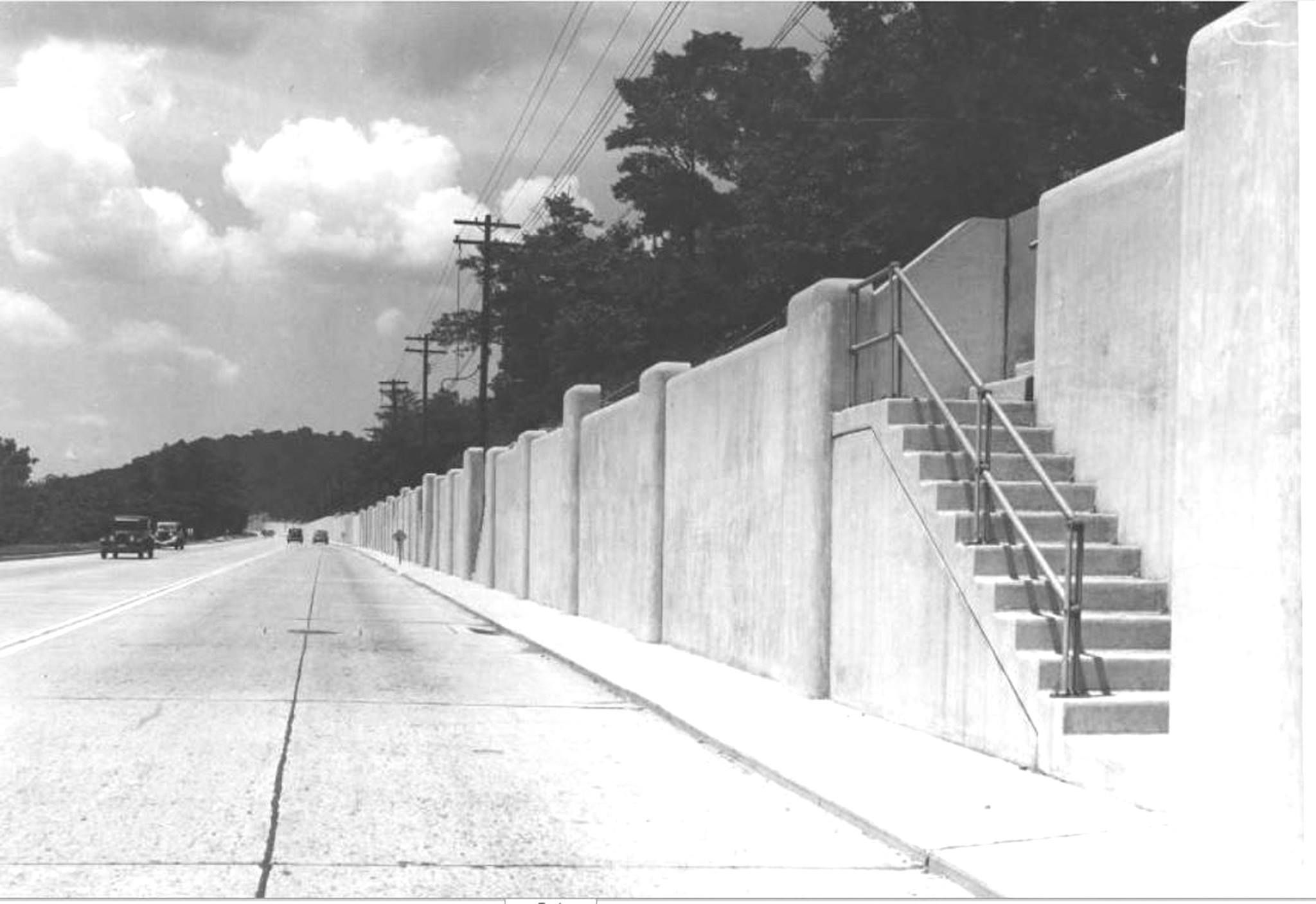 Columbia Pkwy late 1930's. Downtown cincinnati