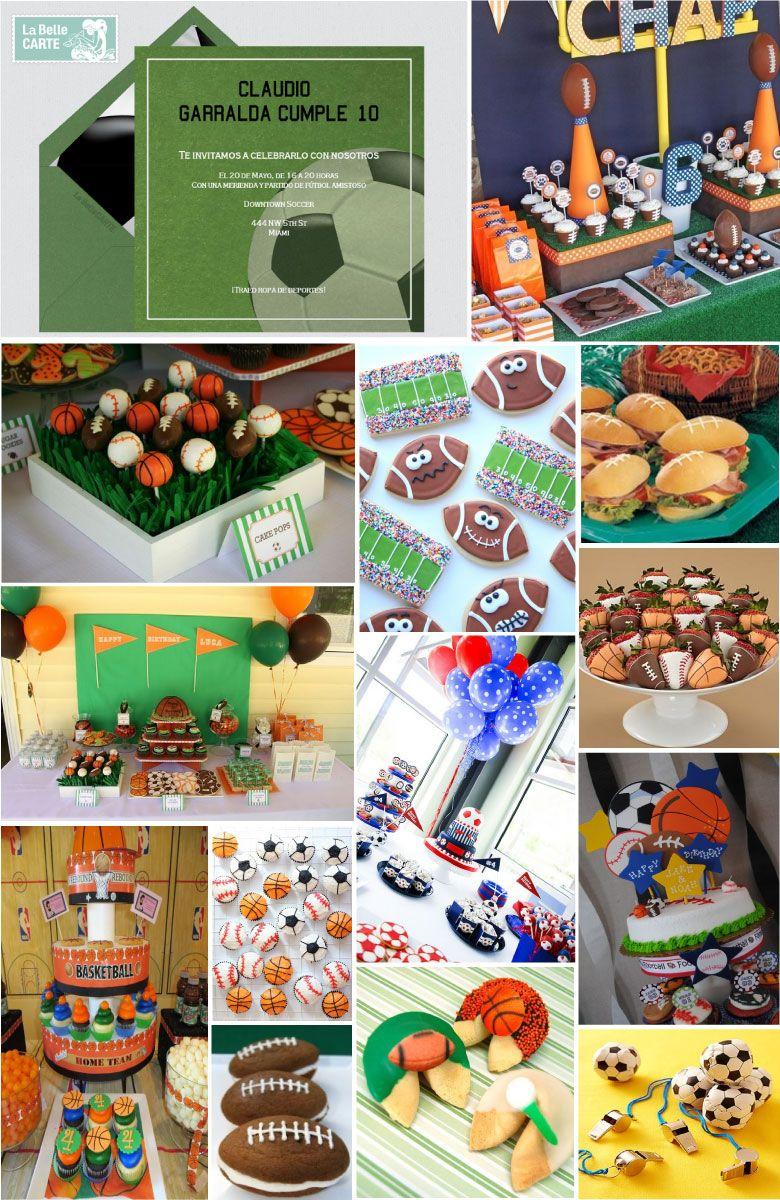 infantiles e ideas para celebrar un cumpleaos de deportes