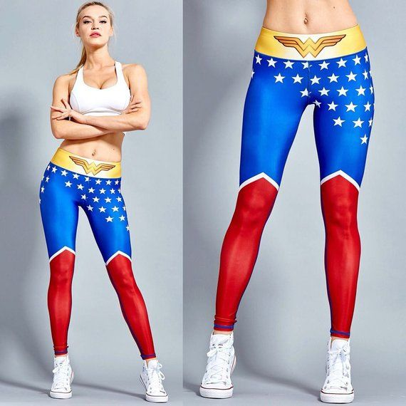 ebdc71ff286e2 Wonder Woman Workout Leggings for Women High Waisted - WW10003 (PRE-ORDER)
