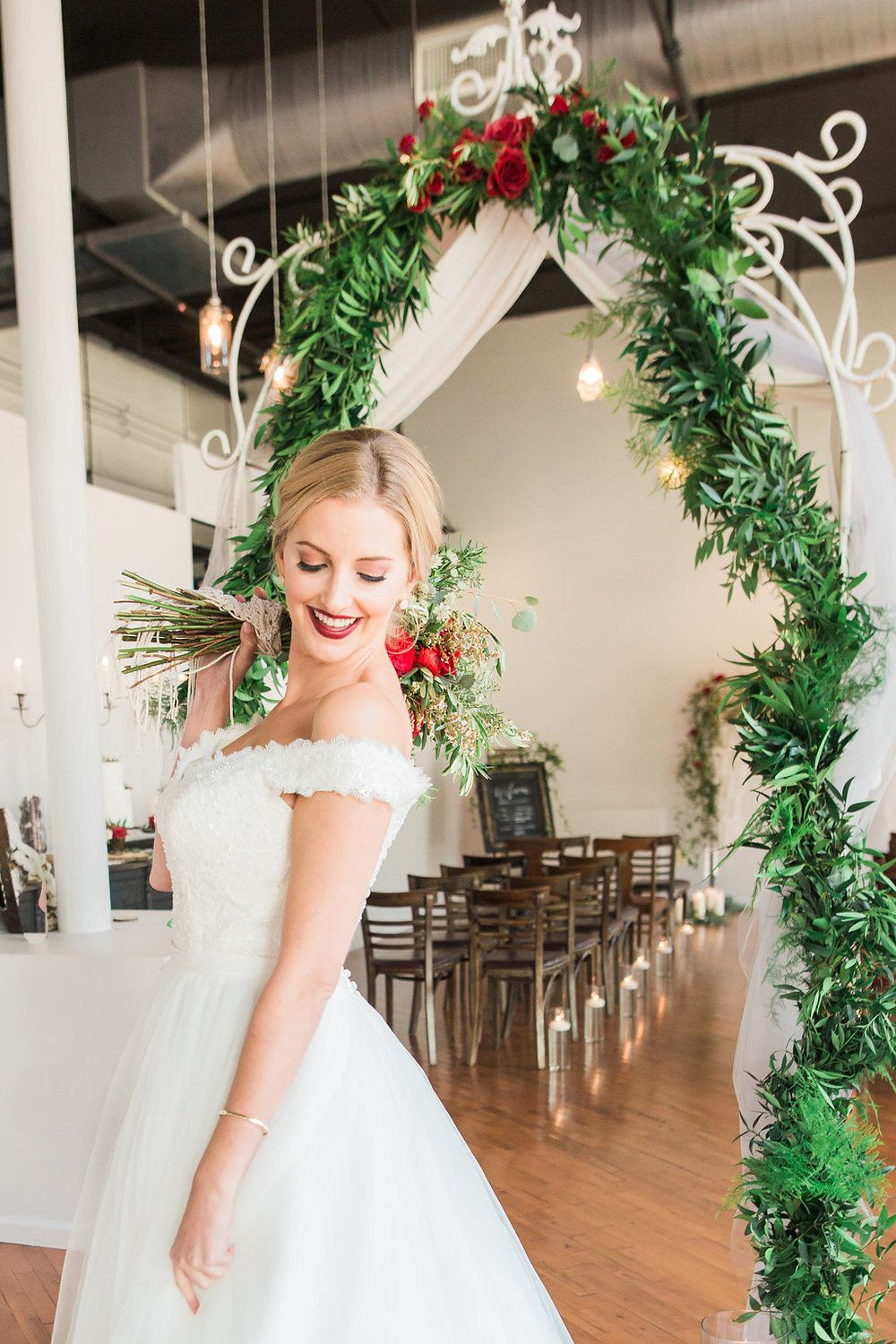 chicago christmas themed wedding, hair and makeup by bridal