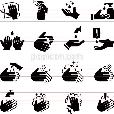 Hand Sanitizer Icons Black Series Popicon Icon Hand Sanitizer Hands Icon