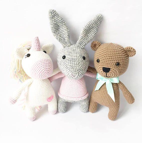 PATTERN - Kenny The Teddy Bear - amigurumi pattern, crochet pattern ...