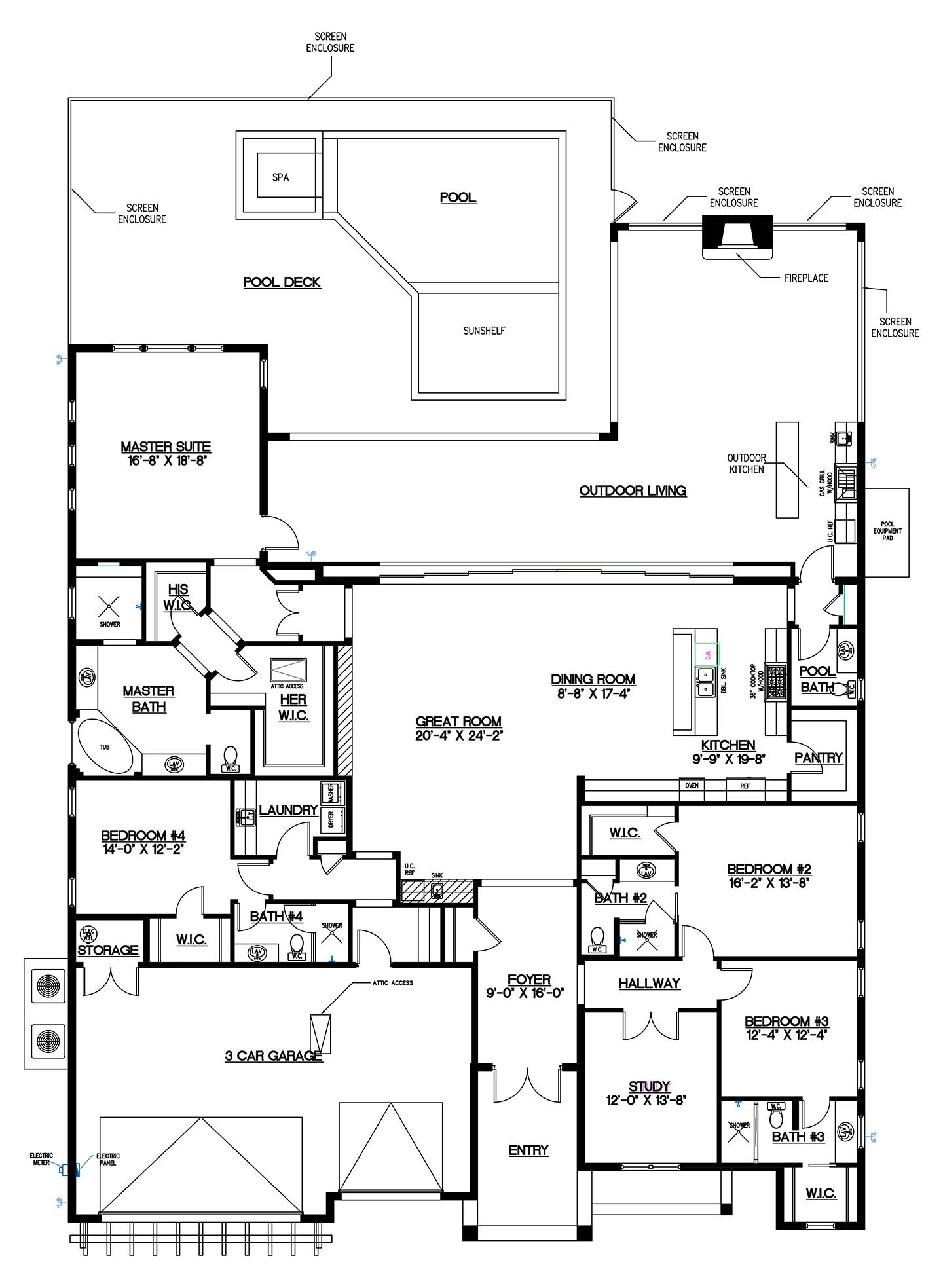 McGarvey Homes High Tide floor plan in Naples Reserve, Naples ...