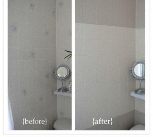 Cheap Backsplash Ideas Painting Tileboard Painting Tile Painting Bathroom Tiles Painting Bathroom
