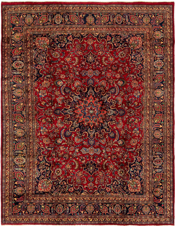Red 9 6 X 12 6 Mashad Persian Rug Ad Red Mashad Rug Persian Sponsored Persian Rug Large Area Rugs Rugs