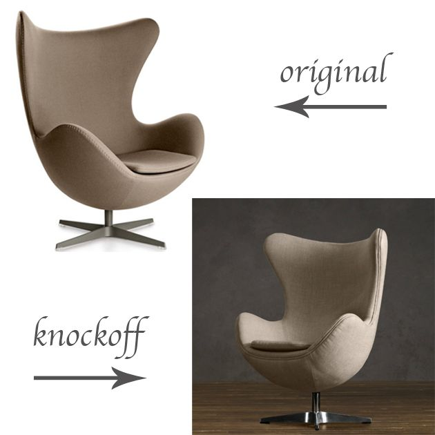 Original vs Knockoff  Arne Jacobsen Egg Chair  replica