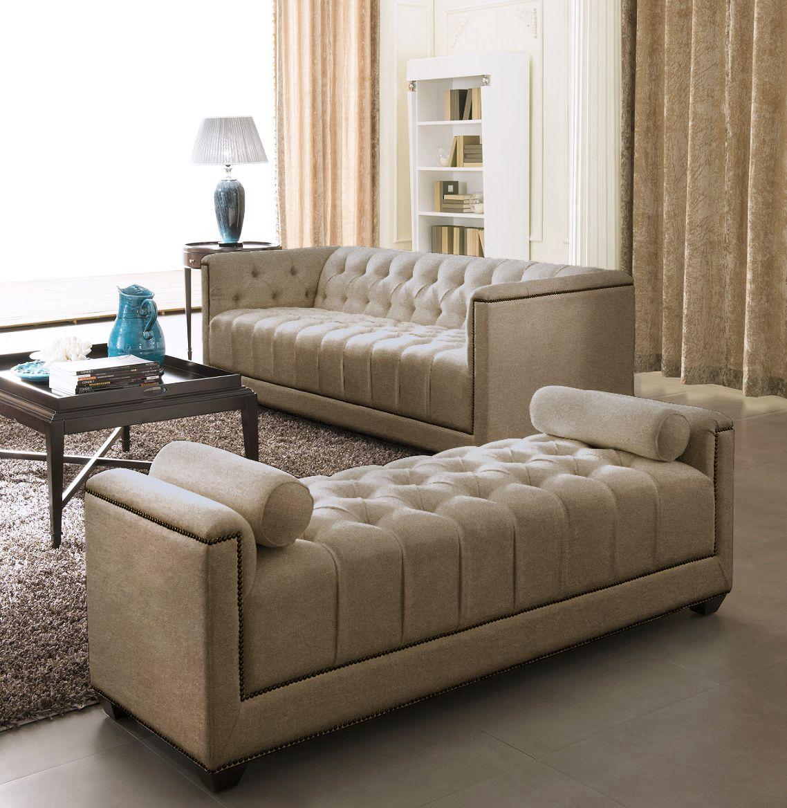 Fabric Sofa Set - Eden - Gold | Living room sofa design ...