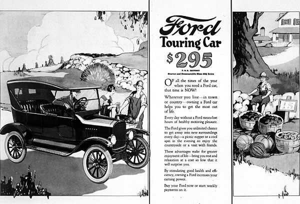 henry ford s automobile and it s effects Mass production: mass production  belongs to the us industrialist henry ford and his colleagues at the ford motor company,  economic effects mass production,.