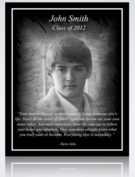"""Unique 8"""" x 10"""" Graduation Gift Idea.  Let us create your own custom laser engraved graduation dedication.  Product shown engraved on 8"""" x 10"""" Satin Black Anodized Aluminum. Click image to be taken to eBay Store. $16.00"""