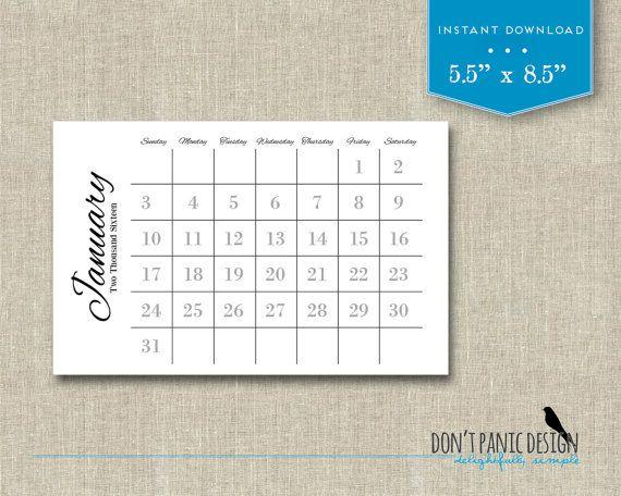 2018 Printable Monthly Calendar - Fun Wall or Desk Calendar - Home