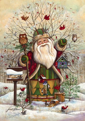 Santa of the Woods by Janet Stever ~ Christmas ~ winter