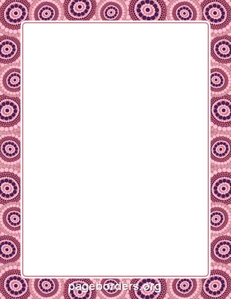 Aboriginal border paper pinterest clip art border templates aboriginal border toneelgroepblik Images