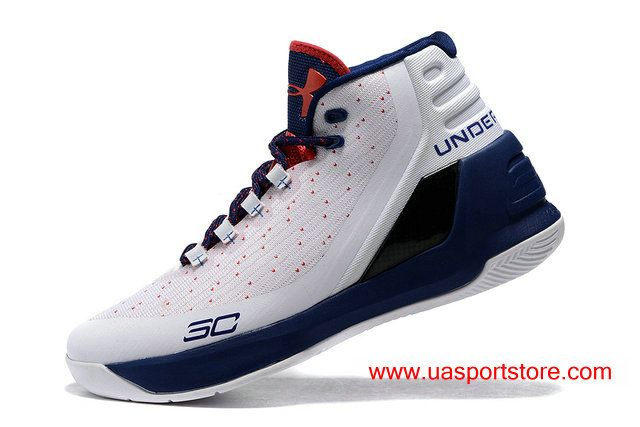Under Armour Steph Curry 3 White Dots Red Dark-Blue Women s Basketball Shoes 77246119d0