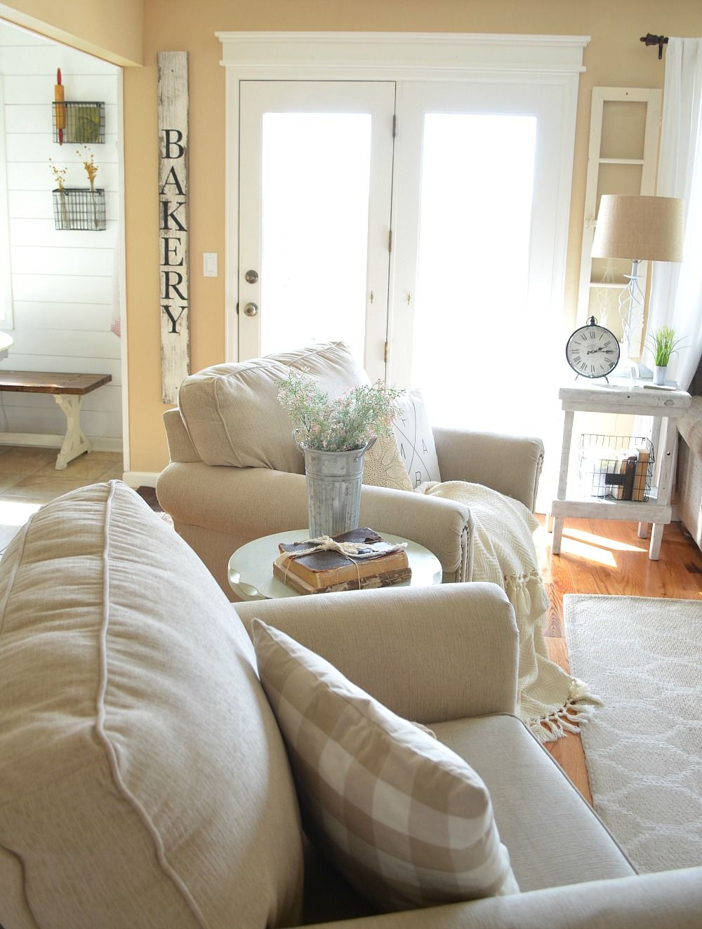 Refreshed Modern Farmhouse Living Room | Farmhouse living rooms ...