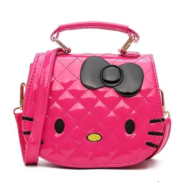 dd8f49d3ec Hello Kitty Bowknot Handbag Cute Mini Bag Children Cartoon Messenger Bags  For Girls Kids Tote Girls Shoulder Bag
