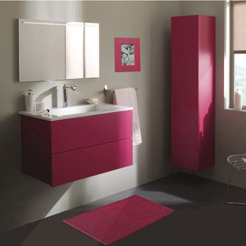 meuble de salle de bains cosmo rose shocking n 3 bathrooms pinterest. Black Bedroom Furniture Sets. Home Design Ideas