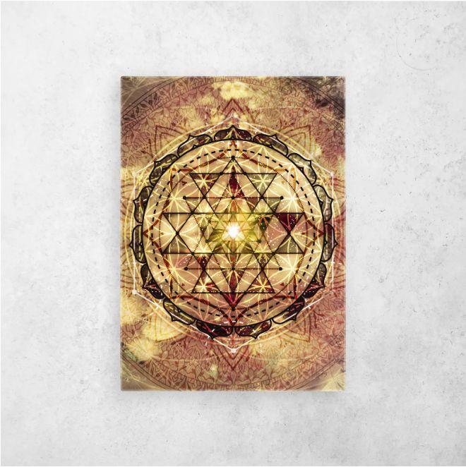 #sriyantra #yantra #irradiatedyantra #sacred #sacredgeometry | Displate thumbnail