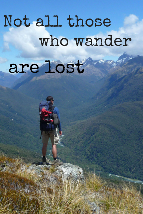 Not all those who wander are lost by Lucas Marcomini