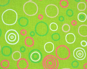 Check out the deal on Upholstery Fabric Circles Chartreuse ...
