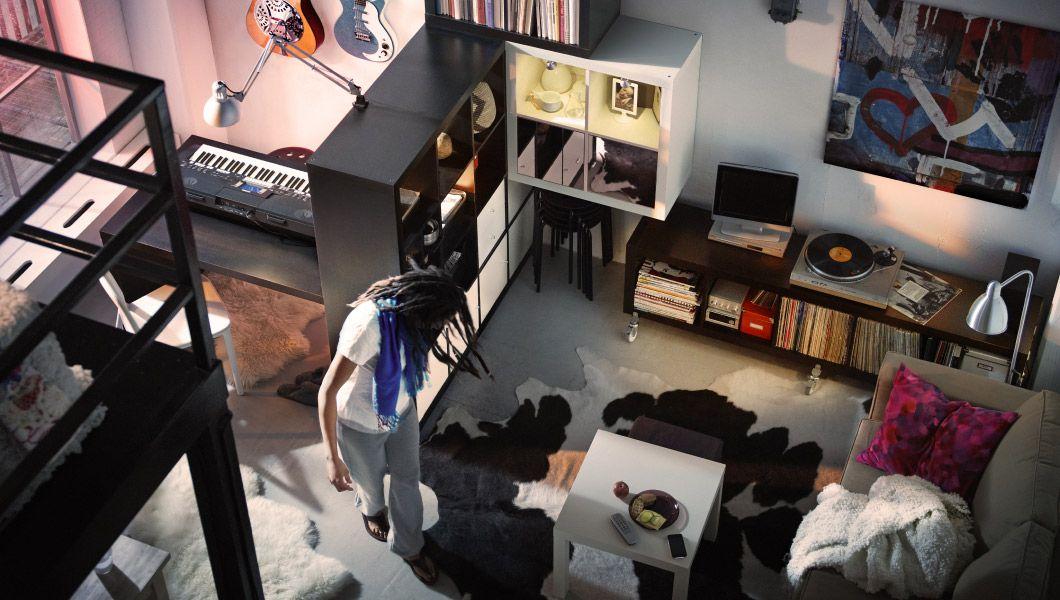 IKEA Sterreich Inspiration Wohnzimmer STOR Hochbettgestell Schwarz MNSTAD Eckbettsofa Mit Bettkasten