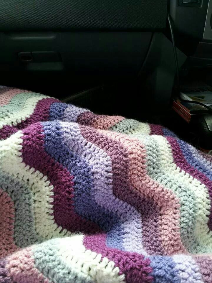 This Is Attic24 S Free Neat Ripple Pattern Using Stylecraft Dk Special Yarn In Sil Crochet Blanket Patterns Crochet Stitches For Blankets Crochet Ripple Afghan