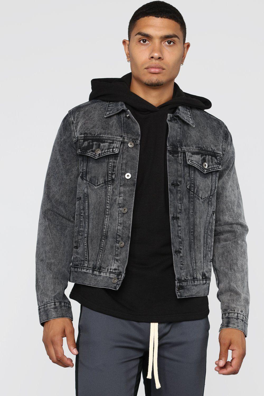 Evan Denim Jacket Black Black Denim Jacket Denim Jacket Masculine Clothing