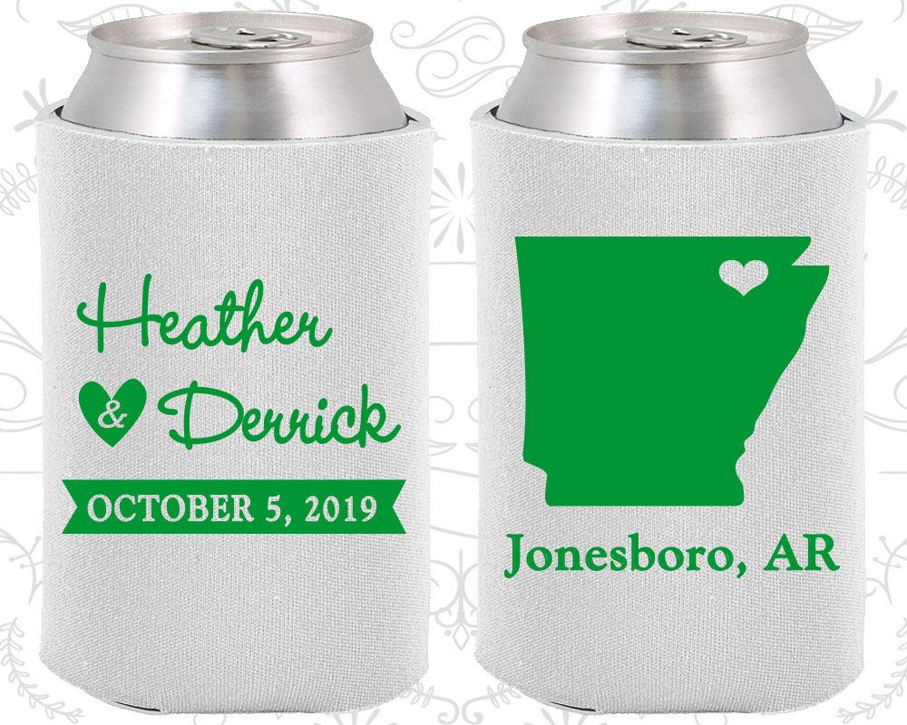 Arkansas Wedding Gifts, Coolies, Destination Wedding Favors, State ...