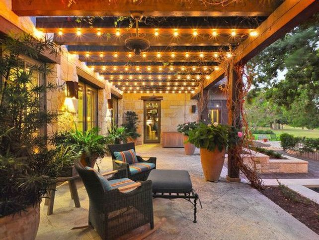 Patio Cover Lighting Ideas Outdoor Decor Pinterest Patios