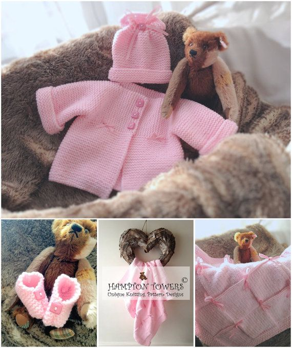 Knitting Pattern Knit for Baby shower PDF Knitted hat Jacket and ...
